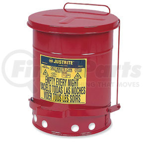 9500 by JUSTRITE - 14 Gal Oily Waste Can