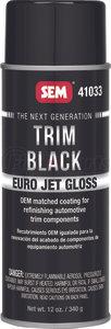 41033 by SEM PRODUCTS - Trim Black Euro Jet Gloss