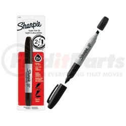 36401-SH by SHARPIE - Super Sharpie Twin Tip Fine Point and Chisel Tip Permanent Marker, 1ct. Black