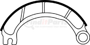 """GG4515TCR by HALDEX - Relined Brake Shoe for 16-1/2 in. Meritor """"P"""" Cast"""