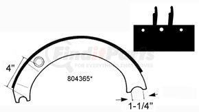 GG4317ER by HALDEX - Relined Brake Shoe for 16-1/2 in. Eaton Single Anchor Pin Tractor and Trailer (Low Mount) New Style