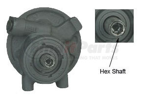 RP10501X by HALDEX - Remanufactured TRW Dodge/Early Ford Power Steering Pump - Hex Shaft
