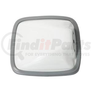 "704078 by VELVAC - Wide Angle Mirror Head 6.5"" x 6"" Side Mount Flat Glass, White Steel"