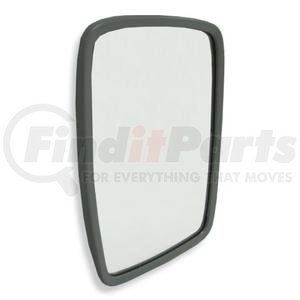 "704032 by VELVAC - Wide Angle Mirror Head 6.5"" x 10"" Side Mount Flat Glass, White Steel"