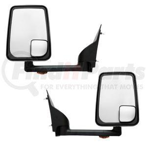 "715455 by VELVAC - Mirror - 2020 Standard Head, Black, Lighted, 96"" Body, Pair"