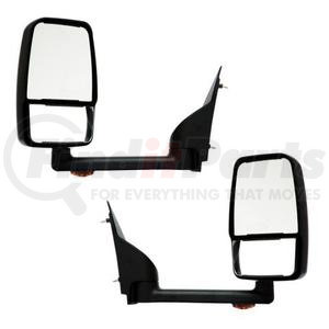 """714521 by VELVAC - Mirror - 2020 Deluxe Head, Black, Lighted, 96"""" Body, Pair"""