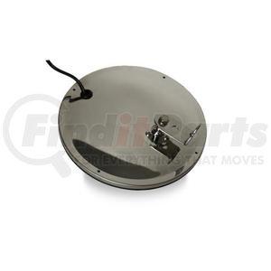 "708560 by VELVAC - Three Screw Convex Mirror 8.5"" Offset Mount Convex Mirror, Stainless Steel Heated"