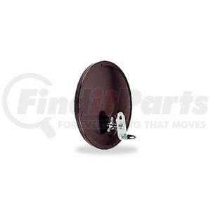 "708511 by VELVAC - Three Screw Convex Mirror 7 1/2"" Offset Mount Convex Mirror, Black"