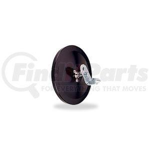 "708521 by VELVAC - Three Screw Flat Glass 5"" Center Mount Convex Mirror, Black"