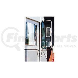 """712323 by VELVAC - Fixed Custom Walk-in Van Mirror Kit 6.5"""" x 10"""" Upper Flat, 6.5"""" x 6"""" Lower Convex, Fixed Loop Bracket, Complete Pair, Stainless Steel"""