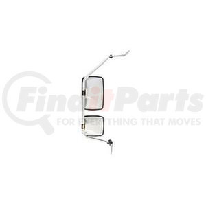"712896 by VELVAC - USPS LLV Mirror Kit Right Side Mirror Kit, Upper Mirror 6.5"" x 10"", Lower Mirror 6.5"" x 6"""