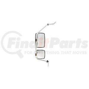 "712897 by VELVAC - USPS LLV Mirror Kit Left Side Mirror Kit, Upper Mirror 6.5"" x 10"", Lower Mirror 6.5"" x 6"""