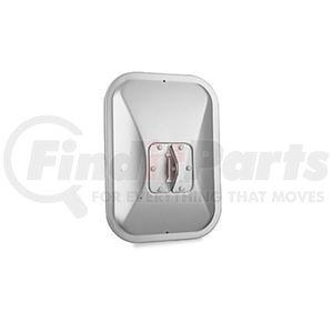"709002 by VELVAC - Center Bracket Mirror Head 7-1/2"" x 10-1/2"" Flat Glass, Stainless Steel"