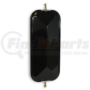 "708008 by VELVAC - V-Back Mirror 7""x16"" Standard V-Back Mirror, Stainless Steel, Heated"