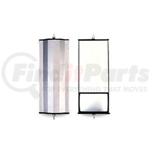 """705107 by VELVAC - Economy Mirror 6"""" x 16"""" Angle Back Mirror, Aluminum With Split Glass and Plastic End Caps"""