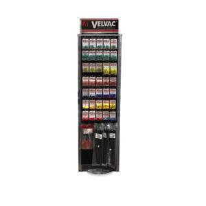 """690111 by VELVAC - Electrical Component Display and Assortment Includes: 65 popular part numbers for a total of 226 items, 3-sided spinner display, Plan-O-Gram, 107 4"""" Peg Hooks"""