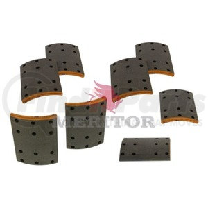 F5234591 by MERITOR - FRICTION MATERIAL - BRAKE LINING KIT, PER AXLE