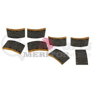 F5234702 by MERITOR - FRICTION MATERIAL - BRAKE LINING KIT, PER AXLE
