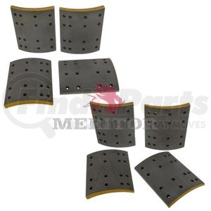 F5234710 by MERITOR - FRICTION MATERIAL - BRAKE LINING KIT, PER AXLE