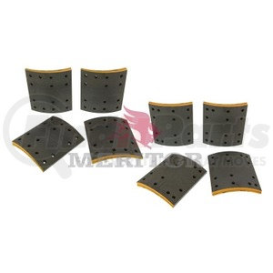 F5234711 by MERITOR - FRICTION MATERIAL - BRAKE LINING KIT, PER AXLE
