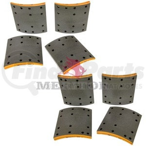F5234718 by MERITOR - FRICTION MATERIAL - BRAKE LINING KIT, PER AXLE