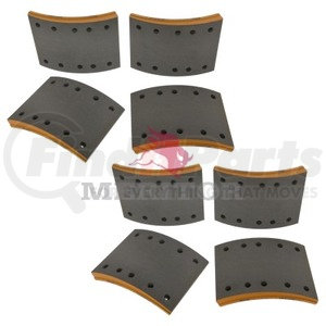 F5234725 by MERITOR - FRICTION MATERIAL - BRAKE LINING KIT, PER AXLE