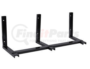 1701001 by BUYERS PRODUCTS - 15x14 Inch Black Steel Mounting Brackets For 48 Inch Poly Truck Boxes