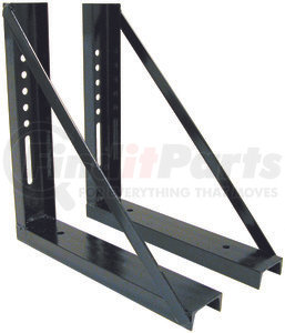 1701006 by BUYERS PRODUCTS - 18x18 Inch Welded Black Formed Steel Mounting Brackets