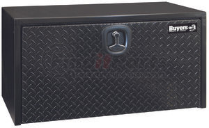 1702505 by BUYERS PRODUCTS - 18x18x36 Inch Black Steel Underbody Truck Box With Aluminum Door