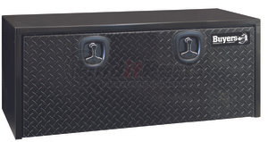 1702510 by BUYERS PRODUCTS - 18x18x48 Inch Black Steel Underbody Truck Box With Aluminum Door