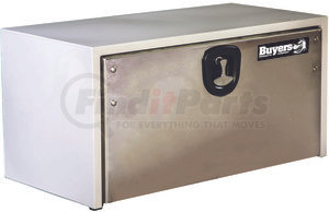 1702805 by BUYERS PRODUCTS - 18x18x36 Inch White Steel Truck Box With Stainless Steel Door