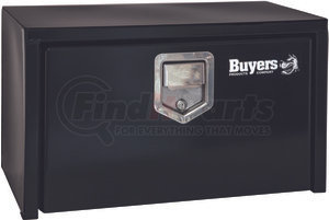 1703100 by BUYERS PRODUCTS - 14x16x24 Inch Black Steel Underbody Truck Box With Paddle Latch