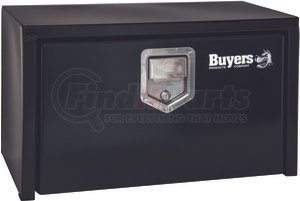 1703150 by BUYERS PRODUCTS - 14x12x24 Inch Black Steel Underbody Truck Box With Paddle Latch