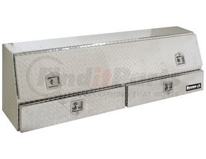 1705641 by BUYERS PRODUCTS - 21x13.5/10x72 Inch Diamond Tread Aluminum Contractor Truck Box With Drawers