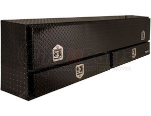 1725641 by BUYERS PRODUCTS - 21x13.5/10x72 Inch Black Diamond Tread Aluminum Contractor Truck Box With Drawer