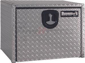 18x18x24 Inch Buyers Products 1705200 Diamond Tread Aluminum Underbody Truck Box w//Barn Door