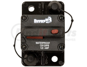 CB120PB by BUYERS PRODUCTS - 120 Amp Circuit Breaker, Push-to-Trip Manual Reset