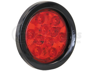 5624110 by BUYERS PRODUCTS - 4 Inch Red Round Stop/Turn/Tail Light Kit With 10 LED