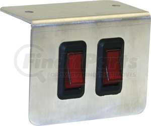 6391002 by BUYERS PRODUCTS - Pre-Wired Double Switch Panel