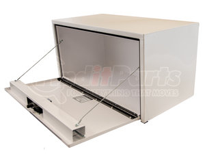 1732400 by BUYERS PRODUCTS - 18x18x24 Inch White Steel Underbody Truck Box With 3-Point Latch