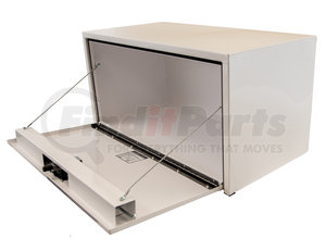 1732403 by BUYERS PRODUCTS - 18x18x30 Inch White Steel Underbody Truck Box With 3-Point Latch