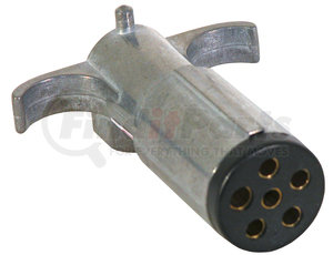 TC2061 by BUYERS PRODUCTS - 6-Way Die-Cast Metal Trailer Connector with Spring - Trailer Side