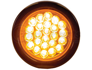 SL40AR by BUYERS PRODUCTS - STROBE LIGHT,4in ROUND, AMBER,(24) LED,