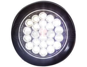 SL40CR by BUYERS PRODUCTS - STROBE LIGHT,4in ROUND, CLEAR,(24) LED