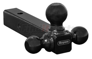 1802200 by BUYERS PRODUCTS - Tri-Ball Hitch Solid Shank With Black Balls