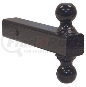 1802215 by BUYERS PRODUCTS - Double-Ball Hitch Solid Shank With Black Balls
