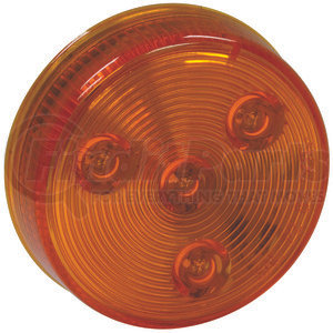 5622525 by BUYERS PRODUCTS - 2.5 Inch Amber Round Marker/Clearance Light With 4 LED