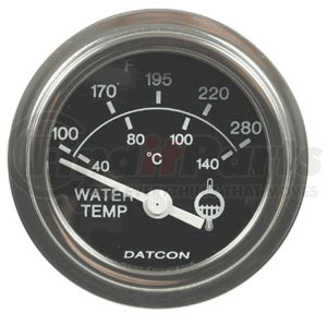 100183D by DATCON INSTRUMENT CO. - Datcon Instruments, Water Temperature Gauge, Electric, 100-280 Degrees F, 12V