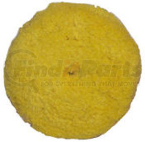 """890084WD by PRESTA - 7-1/4"""" Quik Pad Yellow Blended Wool Medium Cutting Pad"""
