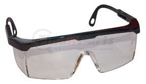 5270 by SAS SAFETY CORP - Black Frame Hornets™ with Clear Lens